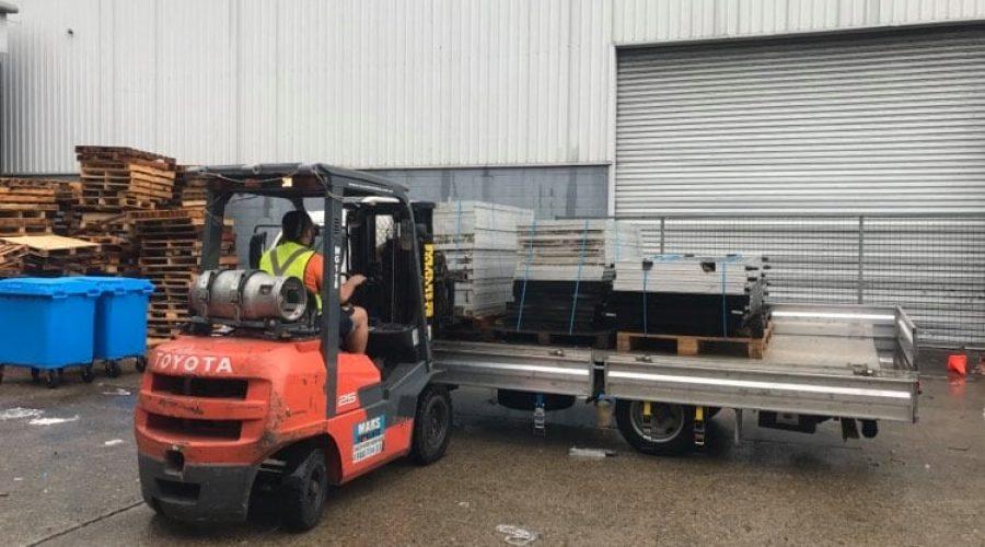 Auburn Forklift solar panel recycling